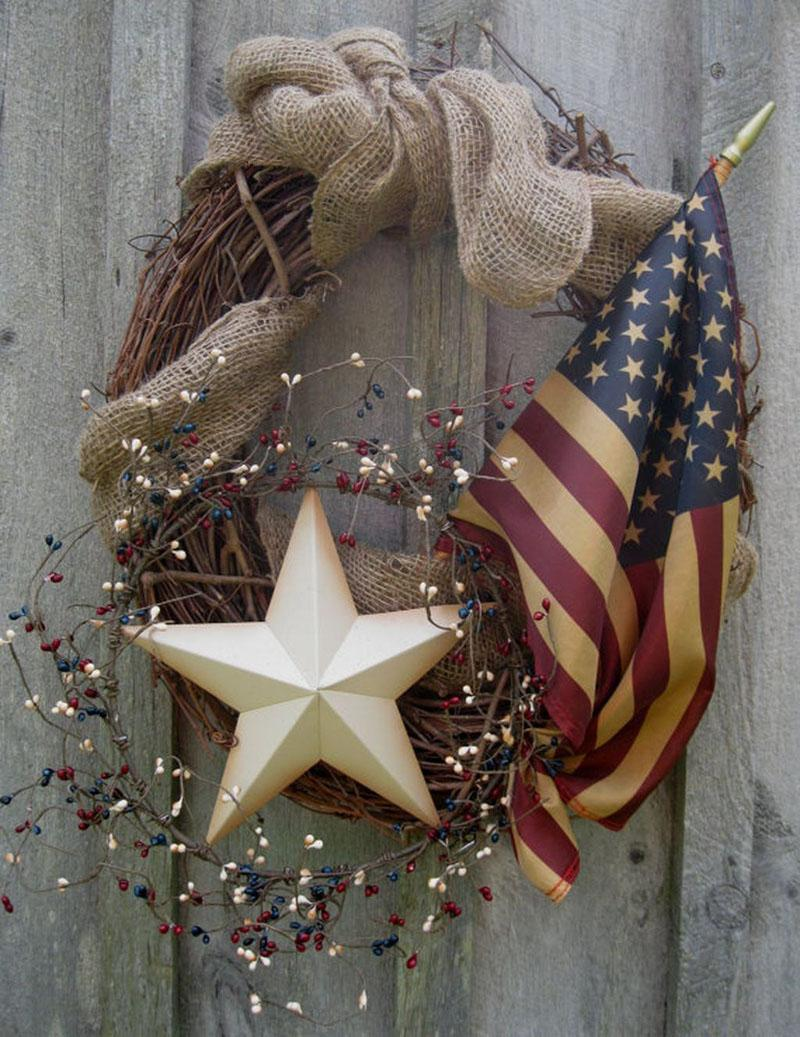 60 DIY Patriotic Wreaths
