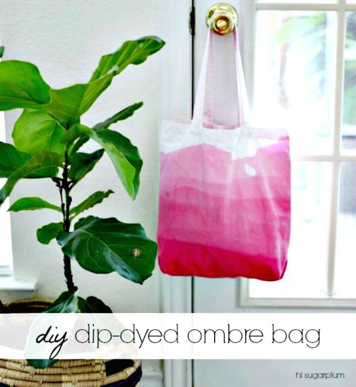 66 Easy DIY Dip-dyed Ombre Bag