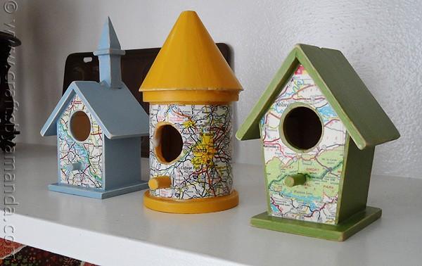 7 Road Map Birdhouses