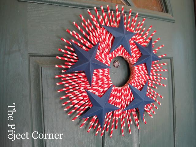 7 Straw-Striped Wreath