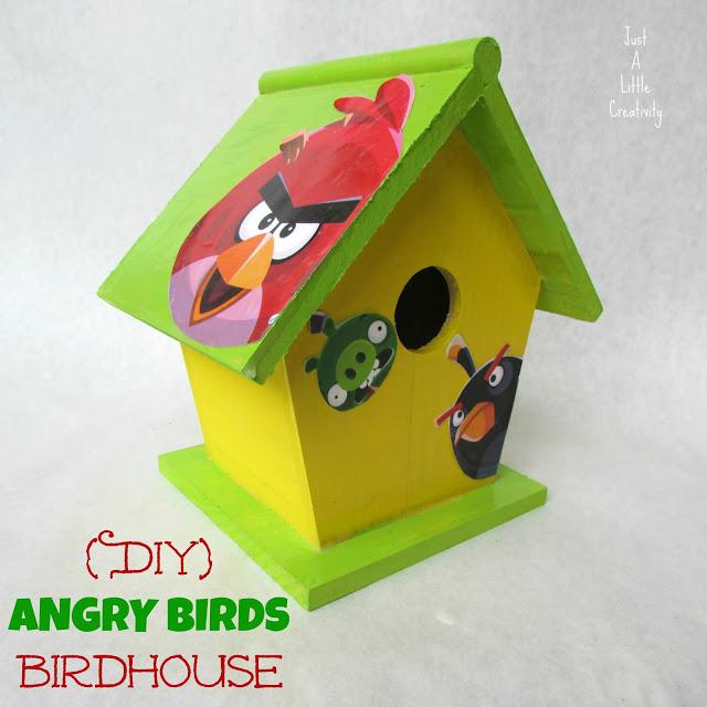 8 Angry Birds Birdhouse
