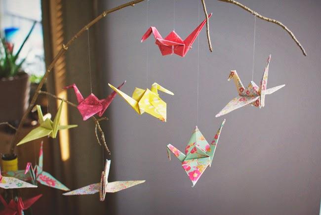 8 Paper Crane Mobile