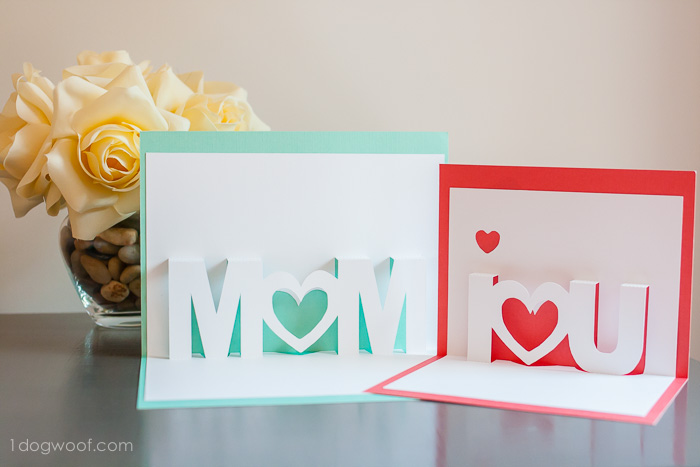 8 Silhouette pop up letters