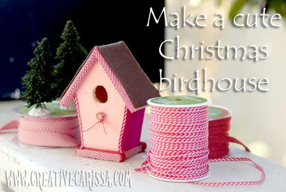 9 Cute Christmas Birdhouse