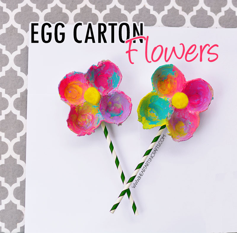 9 Egg Carton Flowers
