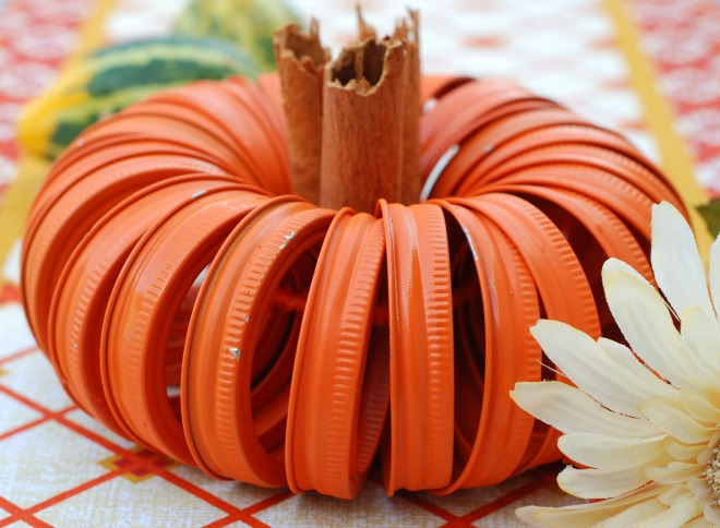 1 Canning Jar Ring Pumpkin