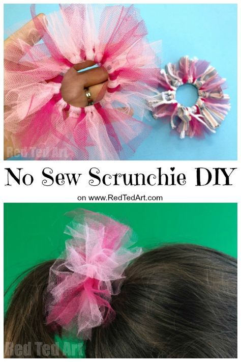 1 DIY No Sew Scrunchie