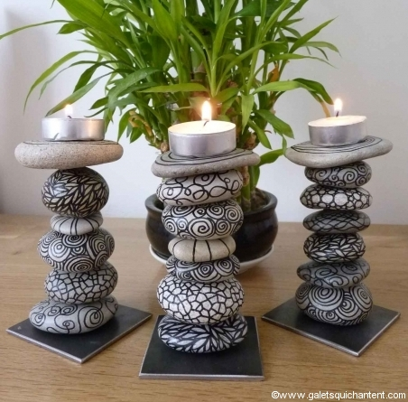 1 Stone Candle Holders