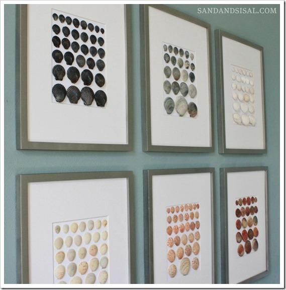 10 Gallery Wall Shell Art