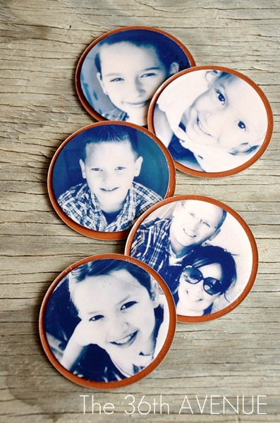 10 Jar Lid Picture Magnets