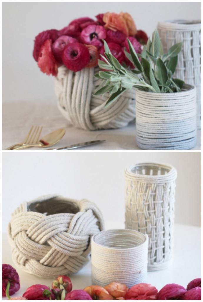 11 DIY Rope Vases