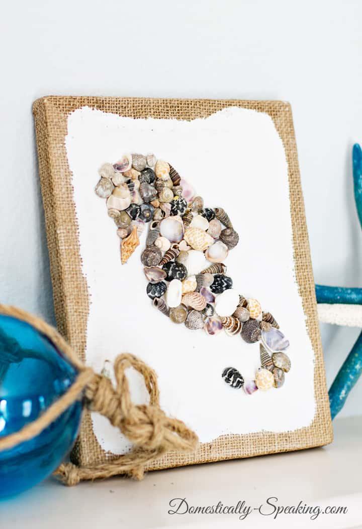 11 DIY Seashell Seahorse Craft