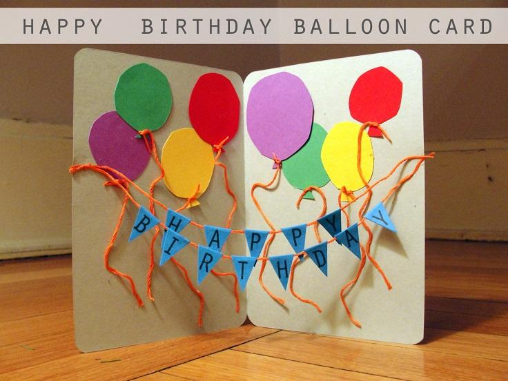 11 Happy Birthday Balloon Card