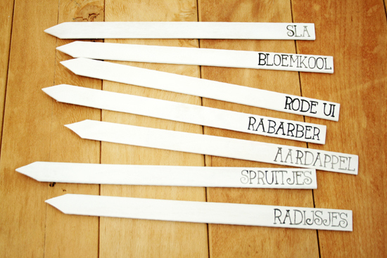 12 Garden Markers from Paint Stirrers