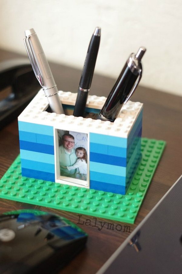 12 LEGO Photo Pen Holder for Dad