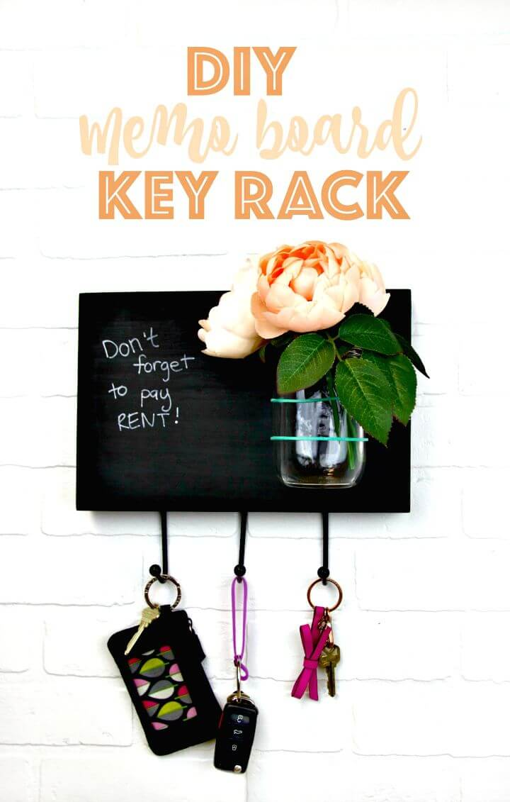 13 DIY Memo Board Key Rack