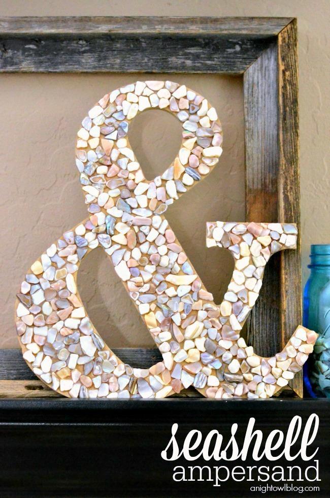 13 DIY Seashell Ampersand