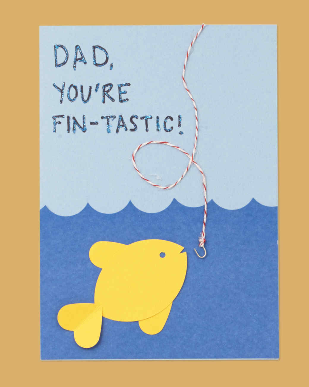 13 Fishy Father's Day Card