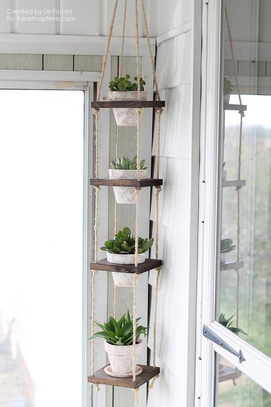 14 Vertical rope plant hanger