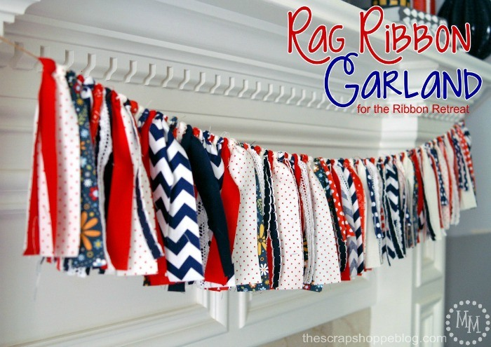 15 4th of July Rag Ribbon Garland