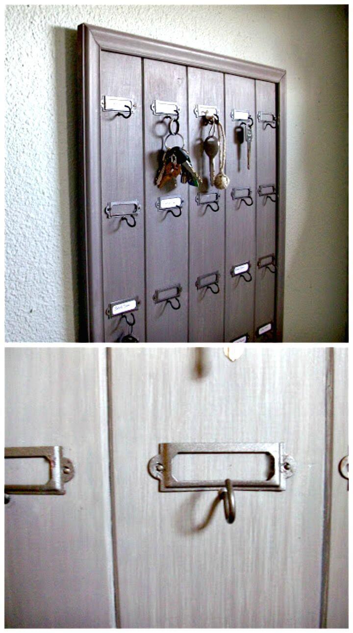 16 DIY Wall Mounted Wooden Hotel Key Rack