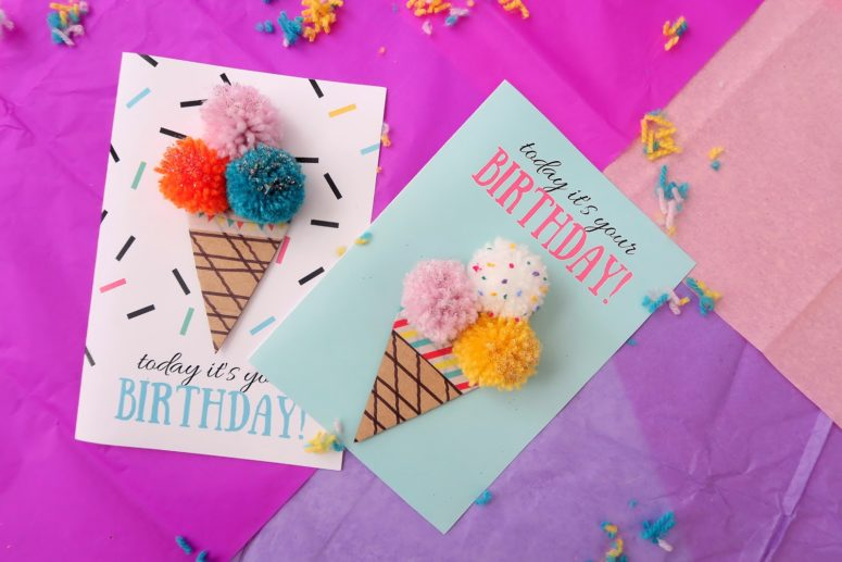 16 DIY ice cream birthday card