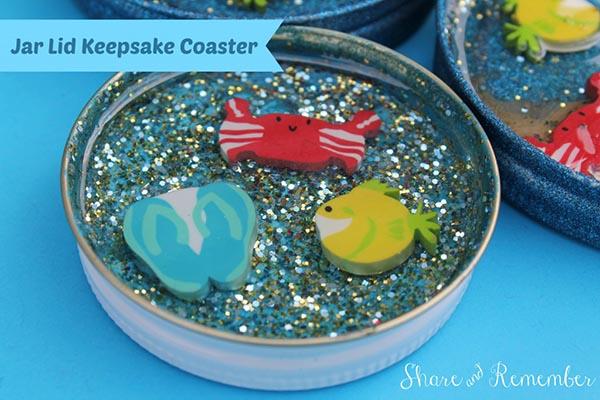 16 Mason Jar lid Coasters