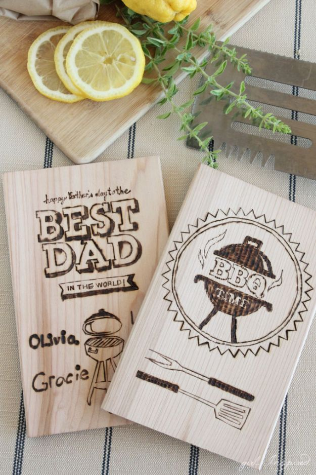 16 Personalized Wood Burning For Dad