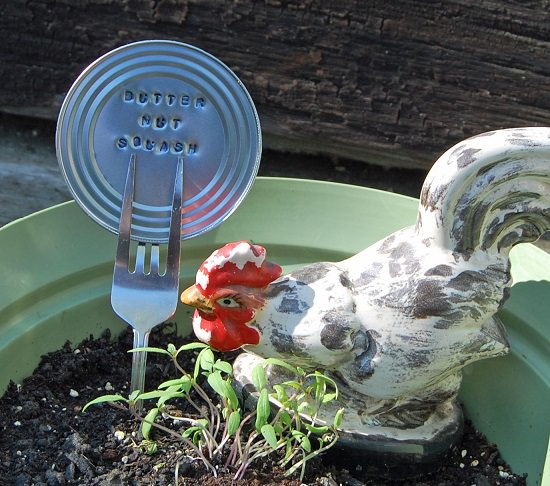 16 Recycled Can Lids Garden Marker