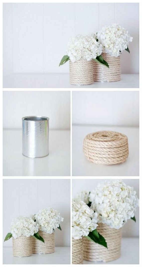 16 Rope vase from tin can