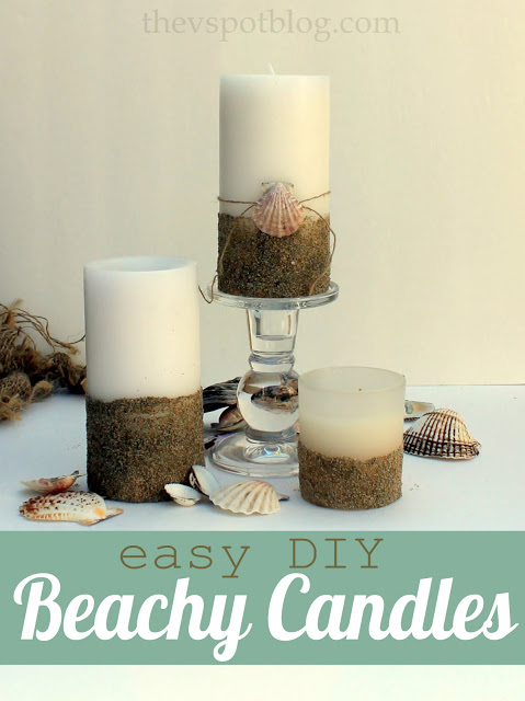 16 Sand and Shell Pillar Candles