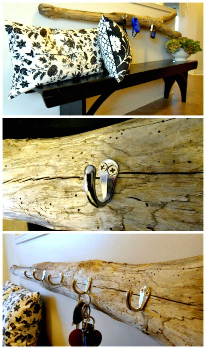 17 DIY Driftwood Key Holder