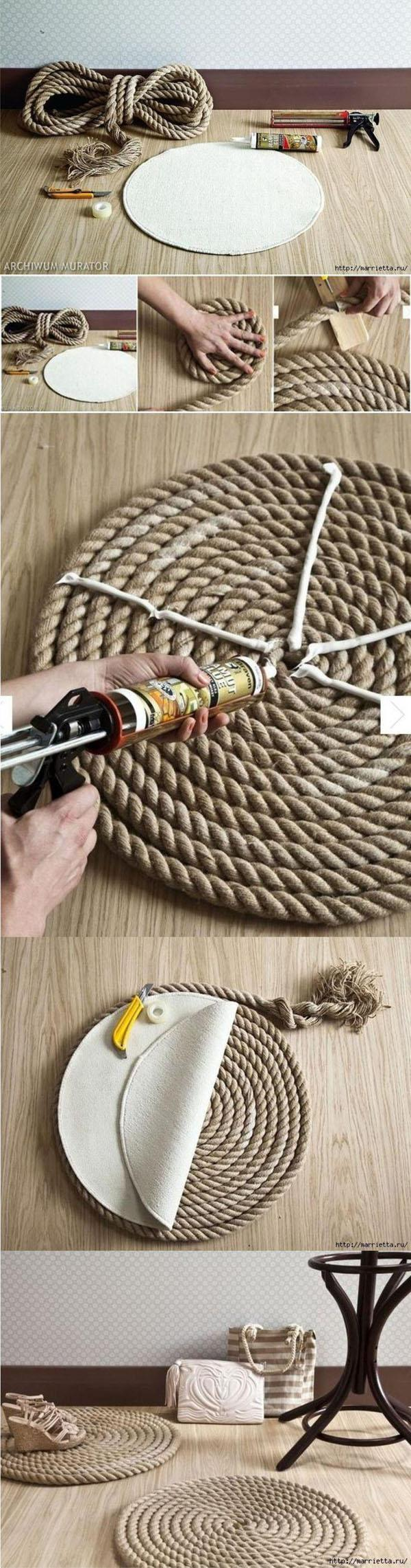 17 Rope rug from scratch