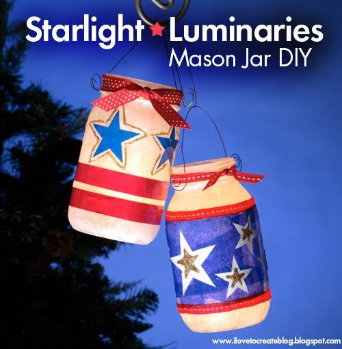 17 Starlight Luminaries Mason Jars