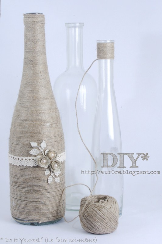 18 Decorate a bottle with rope