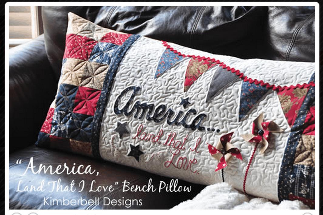 19 America Land that I Love Pillow Pattern
