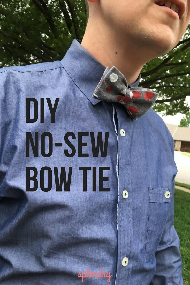 19 DIY No-Sew Bow Tie for Dad