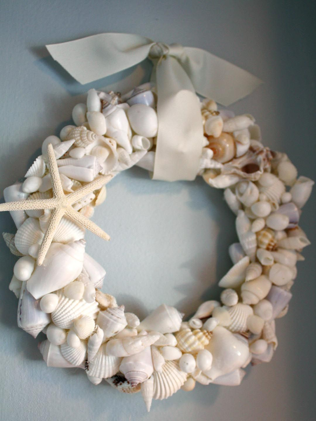 19 How to do a Seashell Wreath