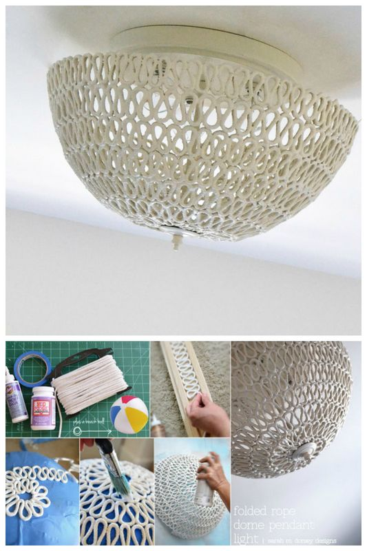 19 Make a pendant light with rope