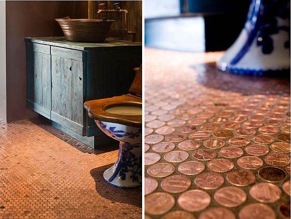 2 Copper Penny Floor