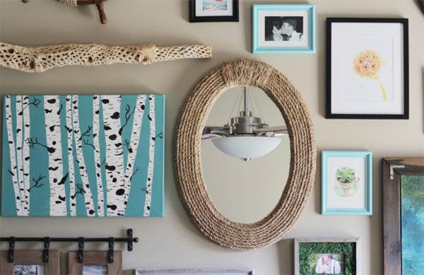 2 DIY Nautical Rope Mirror