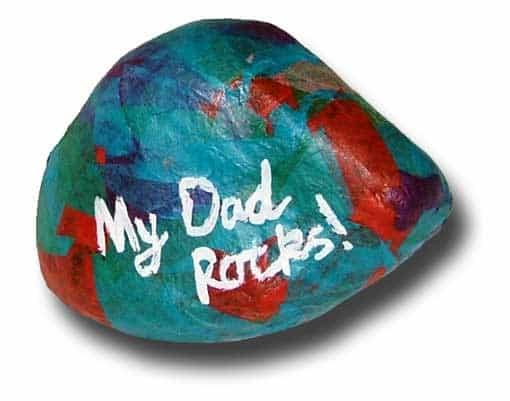 2 Dad Rocks Paperweight