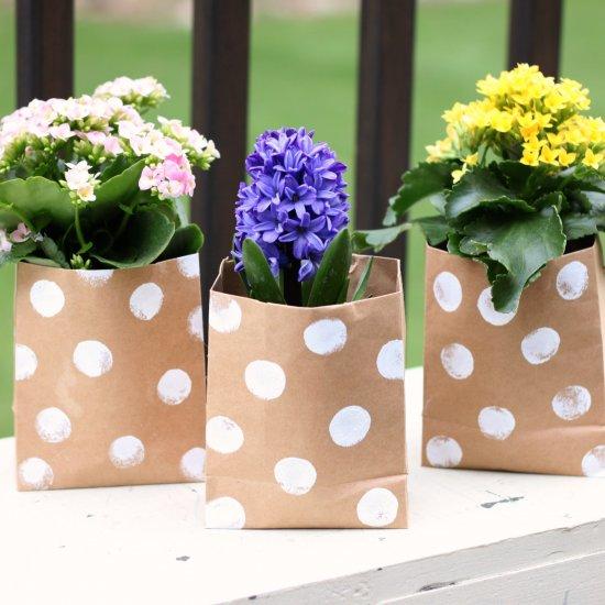2 Paper Bag Flowers