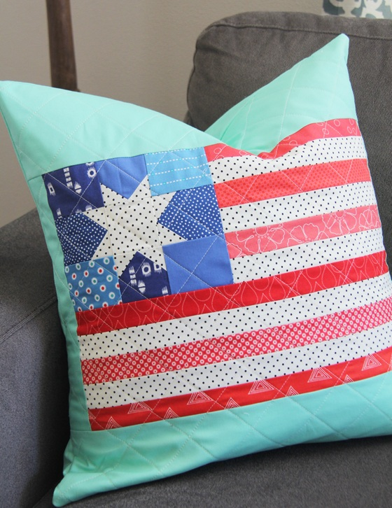 2 Scrappy Flag Pillow