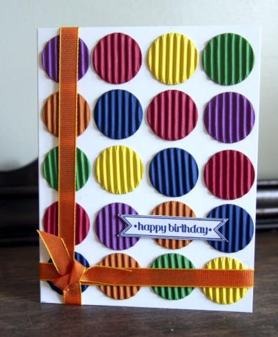 2 Small Circles Birthday Card