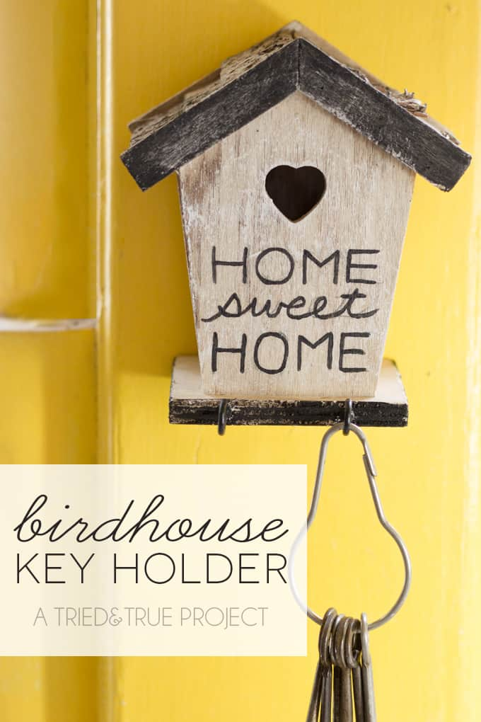 20 DIY BIRDHOUSE KEY HOLDER
