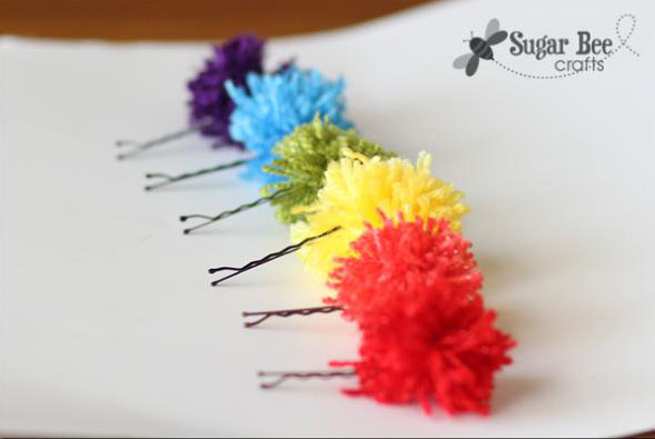 20 Pom Pom Hairpins