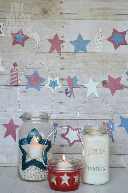 20 Red White Blue Patriotic Lanterns