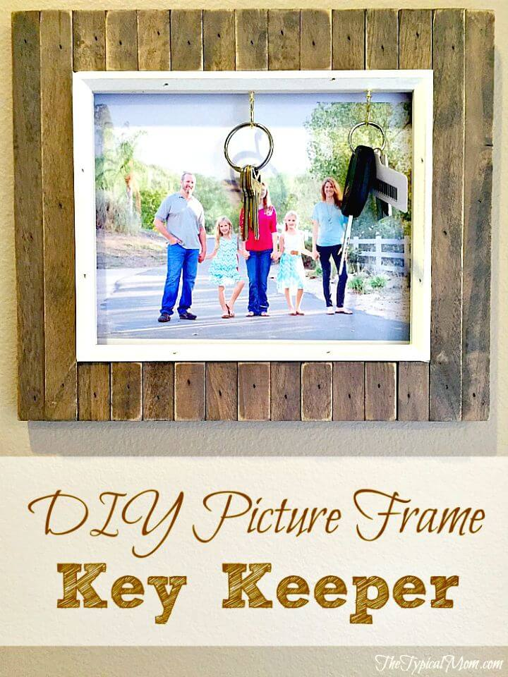 21 DIY Picture Frame Key Holder