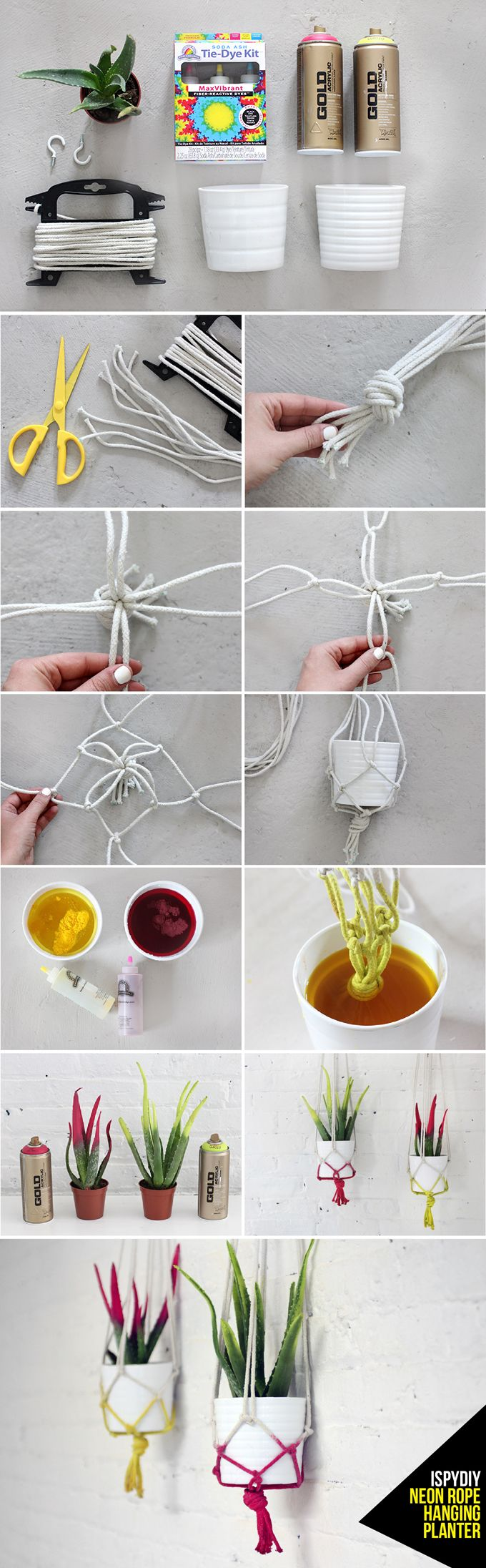 21 DIY macrame rope hanging planter